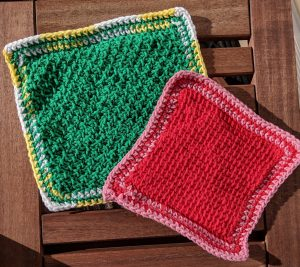 First Tunisian Crochet Dishcloths