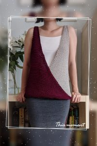CoCo Pearl & Wine Top (Pattern Inside)